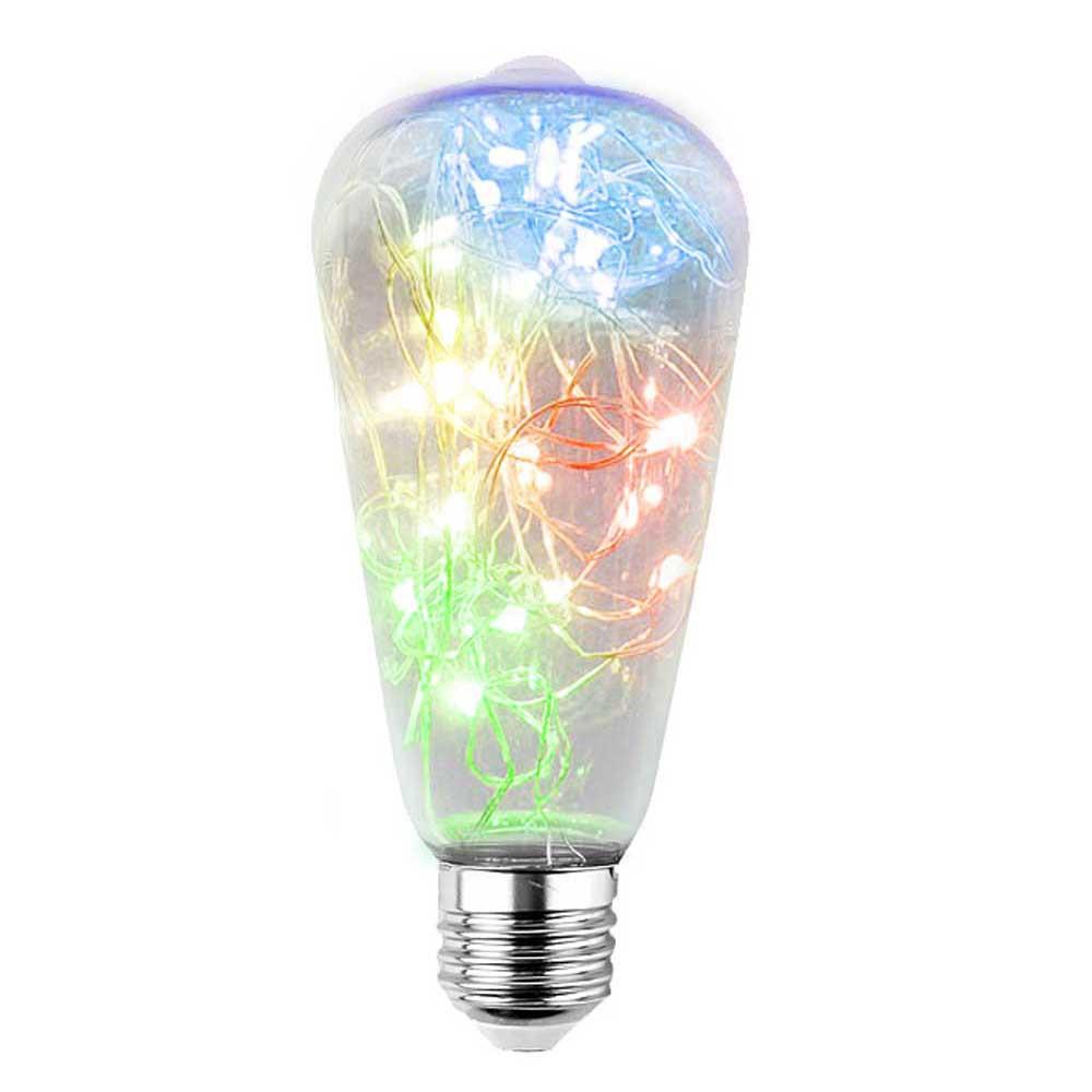 LED DEKORATÍVNA ŽIAROVKA zelená E27 2W ST64-RGB