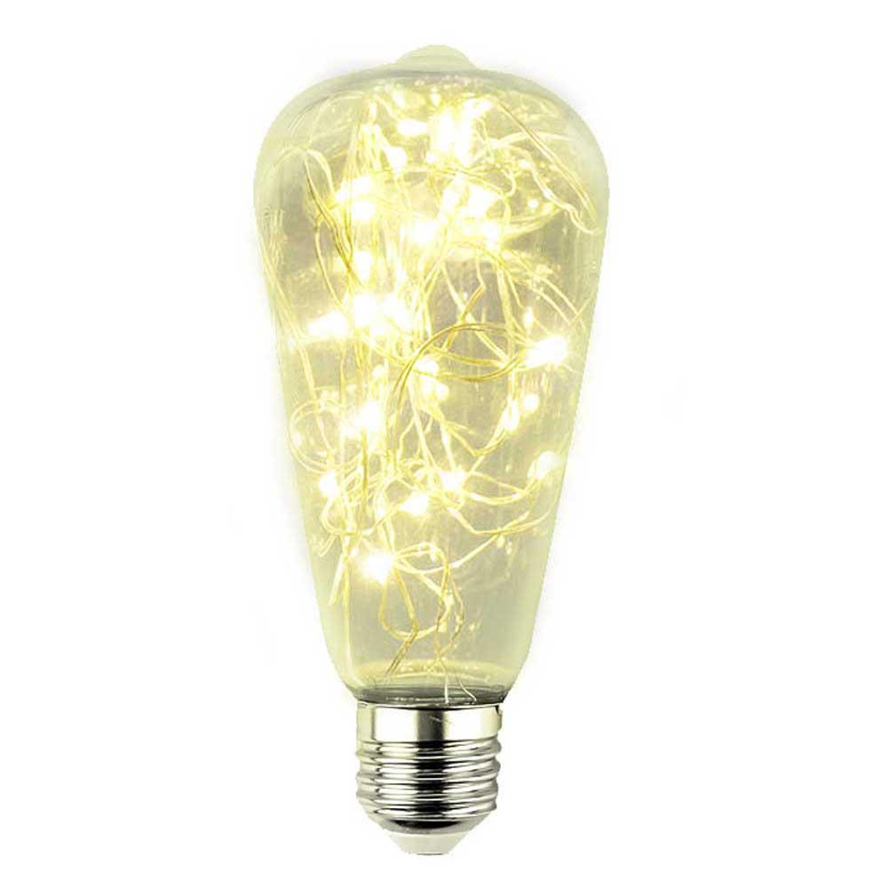 LED DEKORATÍVNA ŽIAROVKA žltá E27 2W ST64-ZO