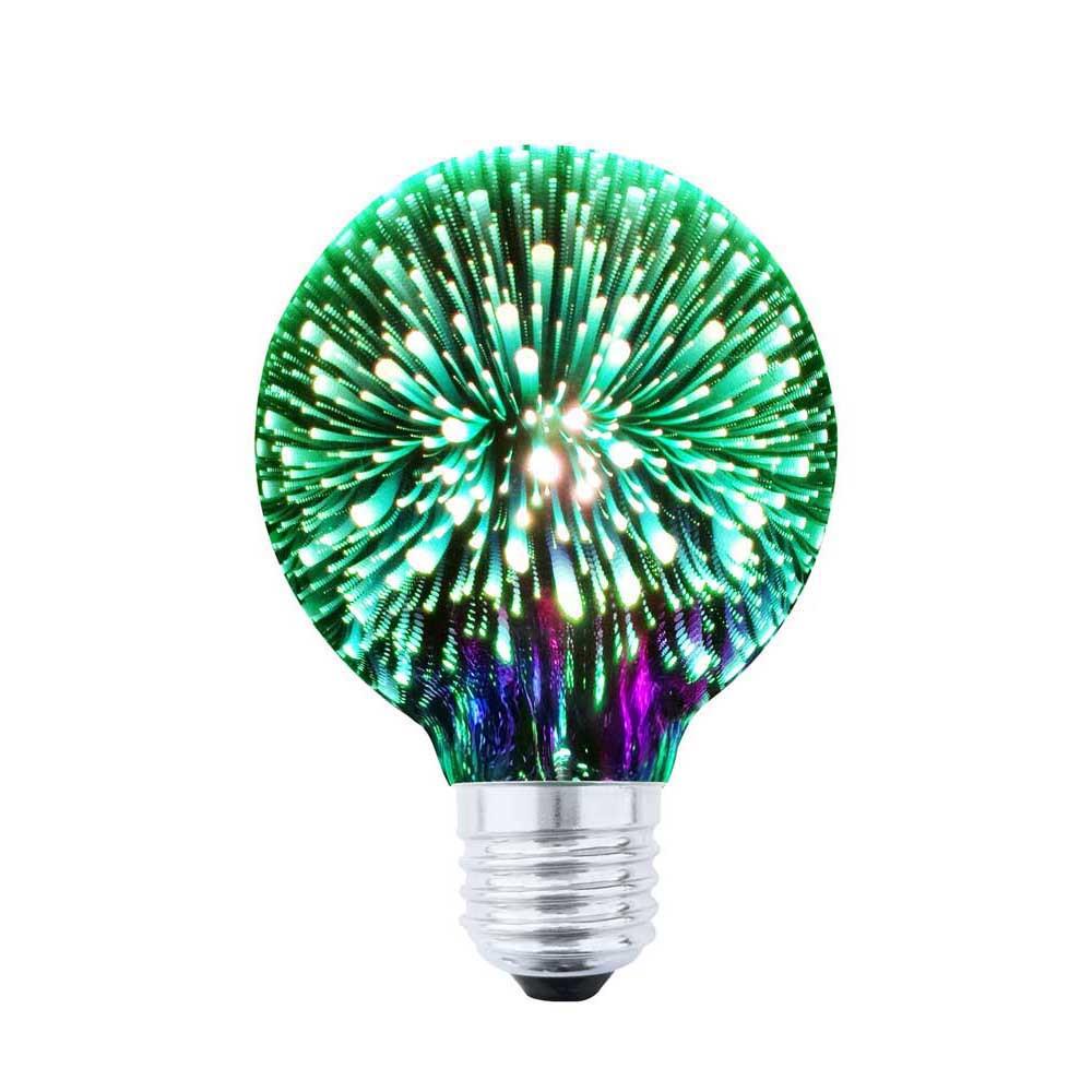 LED DEKORATÍVNA ŽIAROVKA zelená E27 4W G80-ZI