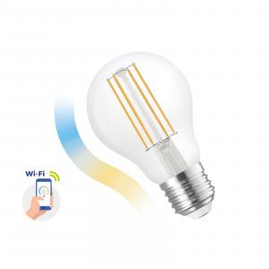 SMART GLS LED bulb 5W COG E-27 Wi-Fi CCT DIMM Clear