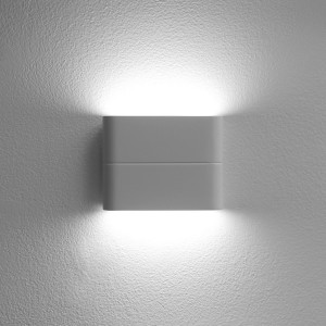 LED2 FLAT S, W NÁSTENNÉ BIELE IP54
