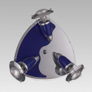 ZEUS 3xE14/R50/40W, CHROME/BLUE