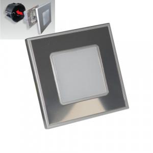 STEP LIGHT LED 1W,60lm,4000K,STEEL/MIRR
