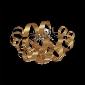 RIBBON 5xG9/33W, GOLD/CHROME