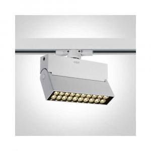 Lištové svietidlo Skamnia 65020T/W/W LED 20W, 1400 LM, 3000K