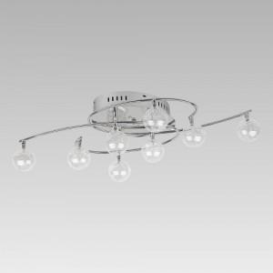 CHICAGO 8xG4/20W, 8xBLUE LED,CHR./GLASS