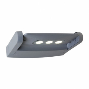 AWAX LED/9W,IP54,SILVER/CLEAR
