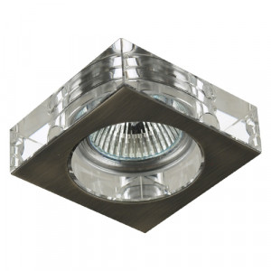 DOWNLIGHT 1xGU10/50W, NS/CRYSTAL