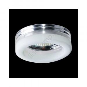 DOWNLIGHT 1xGU10/50, číre/biele sklo 71012-V