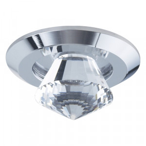DOWNLIGHT LED/1W, CHROME/CLEAR