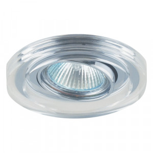 DOWNLIGHT GU10/50W, CLEAR CRYSTAL/CHROME