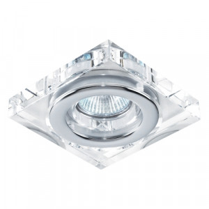 DOWNLIGHT GU10/50W, CRYSTAL/CHR ALU,IP55