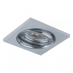 DOWNLIGHT GU10/50W,BRUSHED ALU,FLEXIBLE