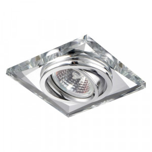 DOWNLIGHT GU10/50W,CHROME,CLEAR,FLEXIBLE