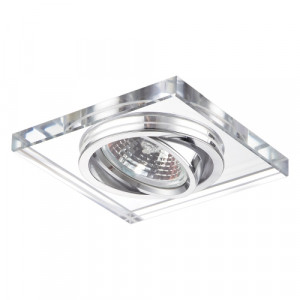 DOWNLIGHT GU10/50W,CHROME,CLEAR GLASS
