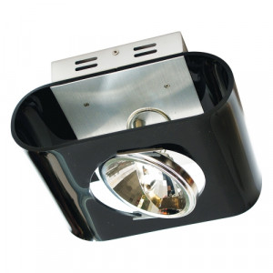 DOWNLIGHT AR111,BLACK ACRYL+BRUSHED ALU