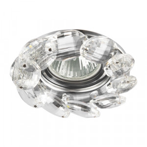 DOWNLIGHT GU10/50W, CHROME/CLEAR