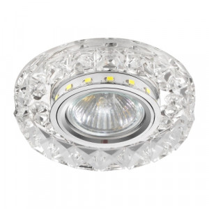 DOWNLIGHT GU10/50W, 0,2WLED, CHROME/CLER