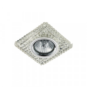 DOWNLIGHT GU10/50W,LED/3W, CHROME/CLEAR