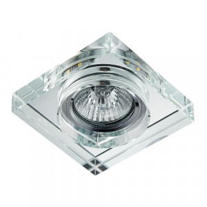 DOWNLIGHT GU10/50W,LED/3W, CHR/MIR,CLEAR