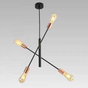 DARIA 4xE27/40W, BLACK/COPPER, PENDANT