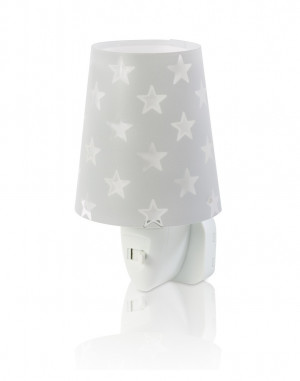 DALBER STARS 81215E šedá Noční LED lampa do zásuvky