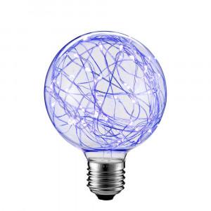 LED ŽIAROVKA modrá E27 2W G80-NI