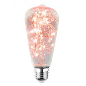LED DEKORATÍVNA ŽIAROVKA červená E27 2W ST64-CR