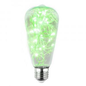 LED ŽIAROVKA zelená E27 2W ST64-ZI