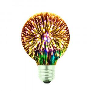 LED ŽIAROVKA zlatá E27 4W G80-ZL