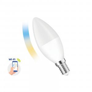 SMART LED candle light bulb 5W E-14 Wi-Fi CCT DIMM