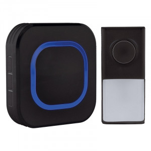 Solight bezdrôtový zvonček, do zásuvky, 250m, čierny, learning code