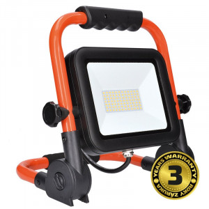 Solight LED reflektor PRO so sklopným stojanom, 100W, 8500lm, 5000K, kábel so zástrčkou, IP65