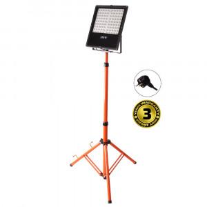 Solight LED vonkajší reflektor s vysokým stojanom, 100W, 8500lm, kábel so zástrčkou, AC 230V