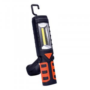 Solight multifunkčná nabíjacia LED lampa, 3W COB, 250 + 40lm, Li-Ion, USB, čiernooranžová