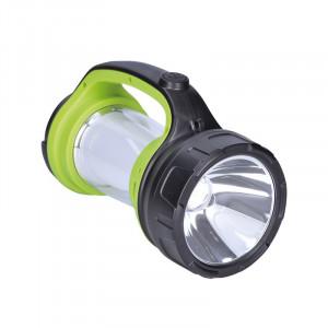 Solight nabíjacie LED svietidlo s lampášom, 3W Cree, 168lm + 200lm, zeleno-čierna