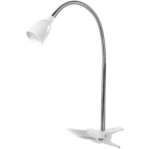 Solight LED stolná lampička, 2,5W, 3000K, clip, biela farba
