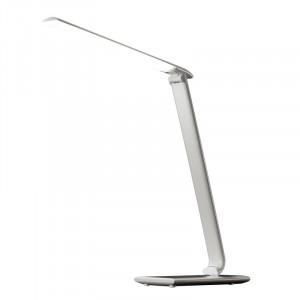 Solight LED stolná lampička stmievateľná, 12W, voľba teploty svetla, USB, biely lesk