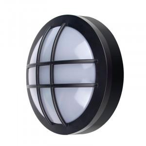 Solight LED vonkajšie osvetlenie guľaté s mriežkou, 13W, 910lm, 4000K, IP65, 17cm, čierna