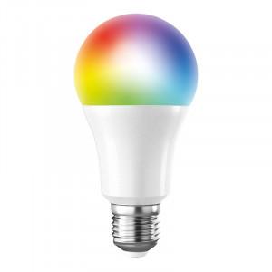 SMART LED WIFI žiarovka, klasický tvar, 10W, E27, RGB, 270°, 900lm