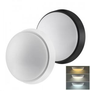 Solight LED vonkajšie osvetlenie s nastaviteľnou CCT, 12W, 900lm, 22cm, 2v1 - biely a čierny kryt