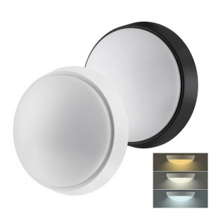 Solight LED vonkajšie osvetlenie s nastaviteľnou CCT, 18W, 1350lm, 22cm, 2v1 - biely a čierny kryt