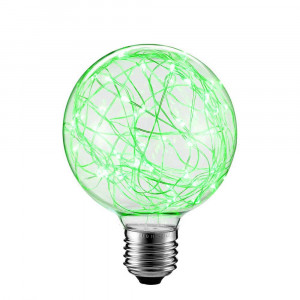 LED DEKORATÍVNA ŽIAROVKA zelená E27 2W G80-ZI