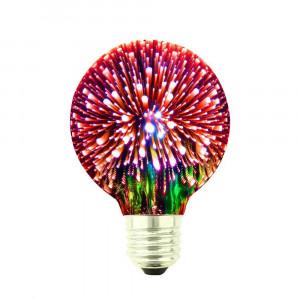 LED ŽIAROVKA červená E27 4W G80-CR