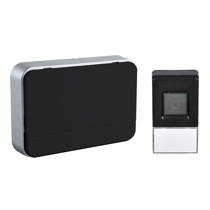 Solight Solight bezdrôtový zvonček, 120m, nastavenie hlasitosti, čierny, 2 x AA baterie
