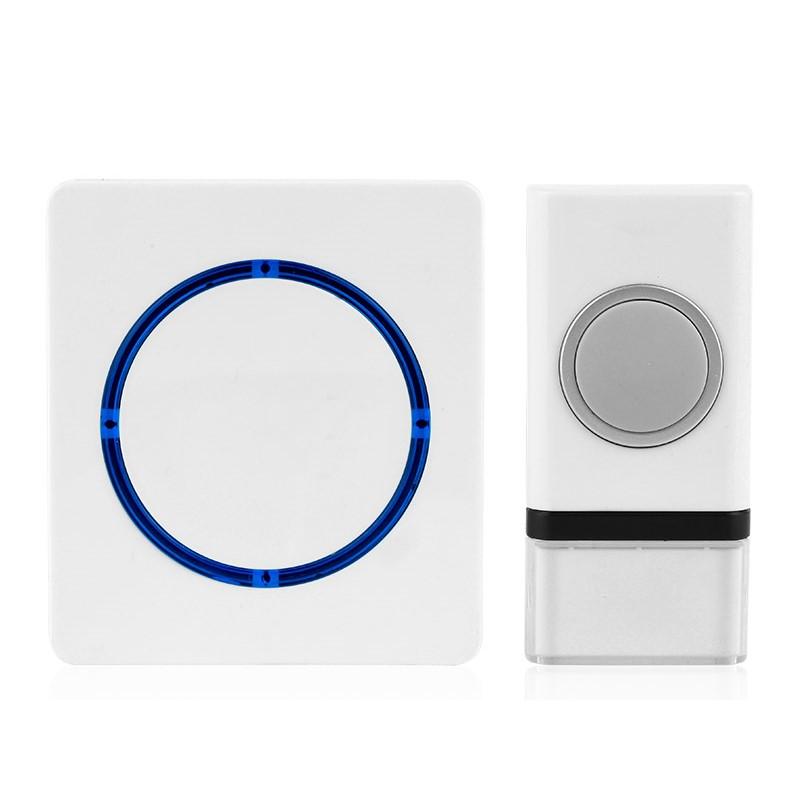 Solight Solight bezdrôtový zvonček, batériový, 120m, biely
