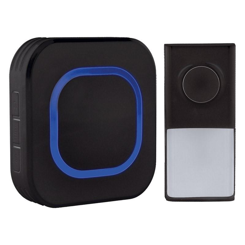 Solight Solight bezdrôtový zvonček, do zásuvky, 250m, čierny, learning code