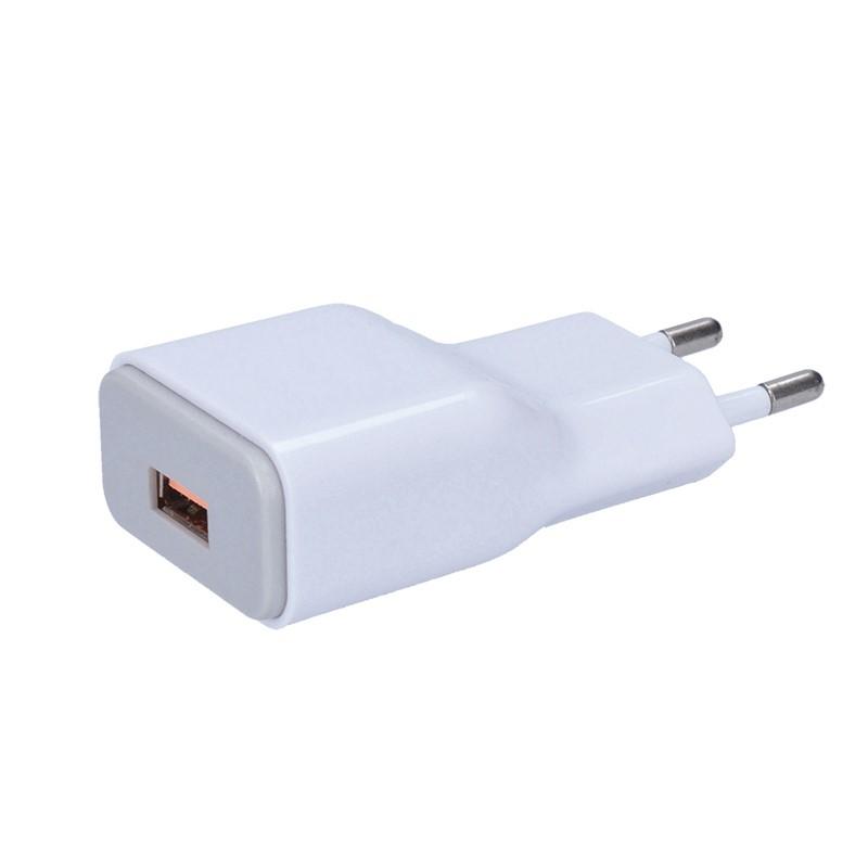 Solight Solight USB nabíjací adaptér, fast charge: 1x USB Qualcomm, 5V2A/9V1.5A/12V1A, AC 230V, bielosivý
