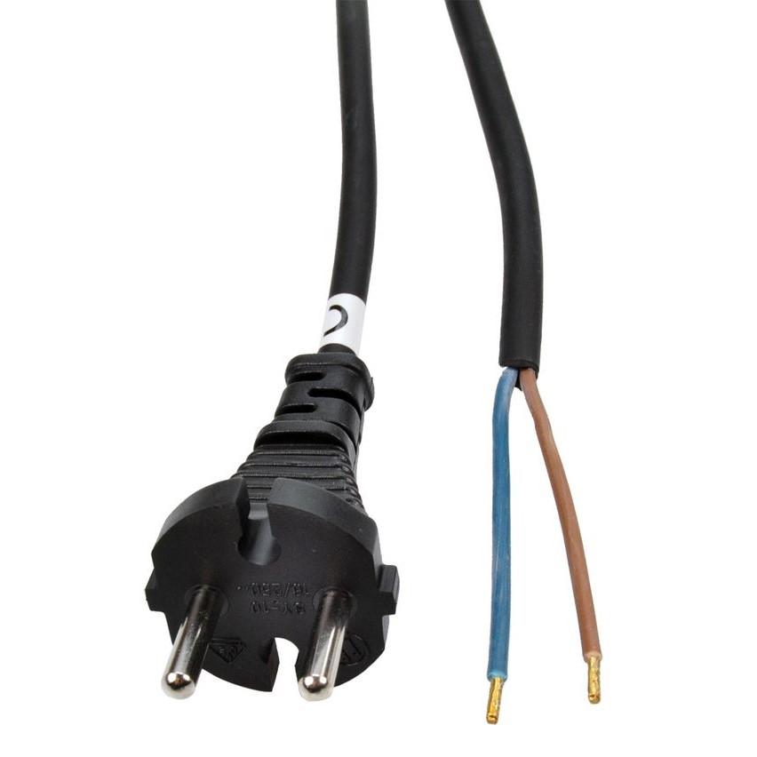 Solight Solight flexo šnúra, 2x 1,5mm2, gumová, čierna, 5m