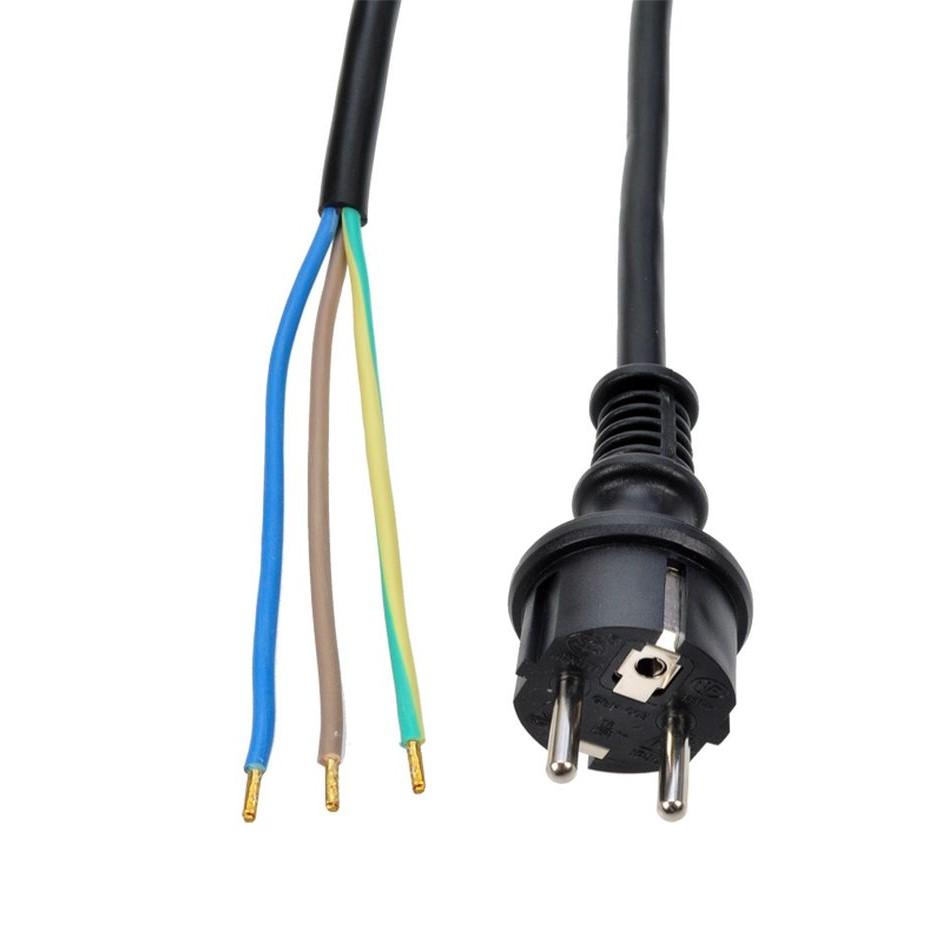 Solight Solight flexo šnúra, 2.5m, 3 x 2.5mm2, gumová H07RN-F3, čierna